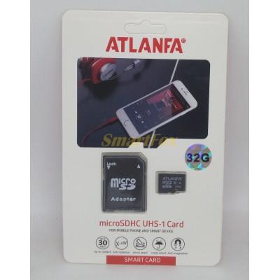 Карта памяти 32Gb ATLANFA microSDHC class 10 (adapter SD)