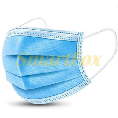 Одноразовая трехслойная маска для лица (минимальный заказ 50шт,цена за 1шт)