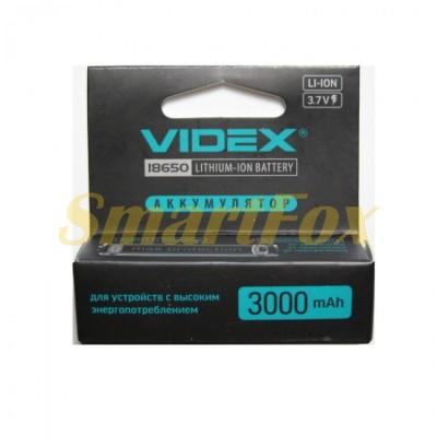 Аккумулятор VIDEX Li-ION с защитой от перегрева 18650 3000mAh 3.7V