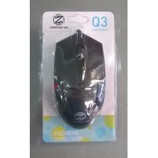 Мышь проводная Q3 (черный)