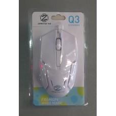 Мышь проводная Q3 (белый)
