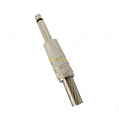 Переходник-штекер аудио 6.5M metall spring