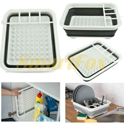 Держатель для посуды складной Filter bowl rack 10389