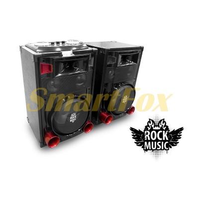 Колонки акустические Rock Music RC-8800 2х30Вт 8 дюймов USB/SD/FM/BT/ДУ L/R