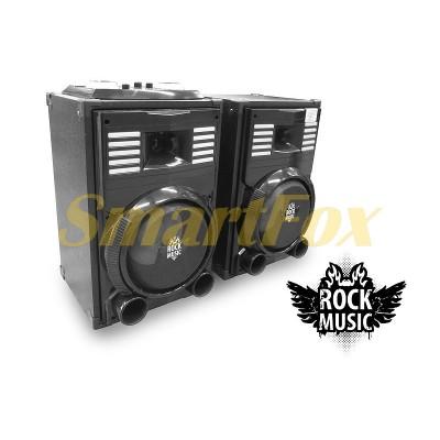 Колонки акустические Rock Music RC-8900 2х30Вт 8 дюймов USB/SD/FM/BT/ДУ L/R