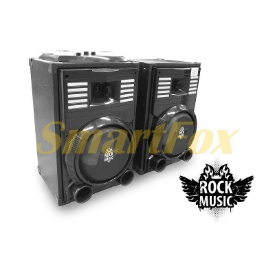 Акустическая система 2.0 Rock Music RC-8900 2х30Вт 8 дюймов USB/SD/FM/BT/ДУ L/R