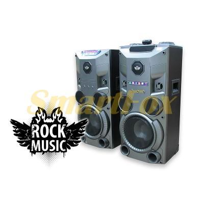 Колонки акустические Rock Music RC-8950 2х50Вт 8 дюймов USB/SD/FM/BT/ДУ L/R