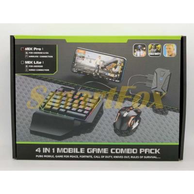 Игровой комплект 4в1 мышь+клавиатура BTдля смартфона и Smat TV