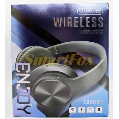 Наушники беспроводные Bluetooth E800BT (Голубой)
