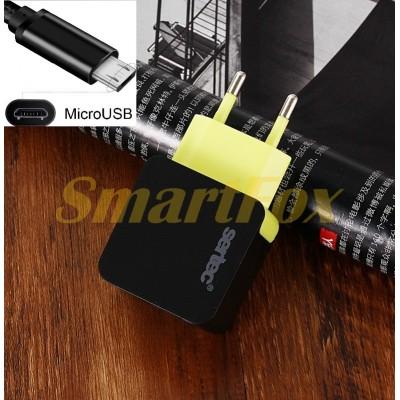 СЗУ USB 1,2A SERTEC ST-1010 6W с microUSB FULL BLACK