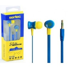 Наушники ваккуумные SQ-50 для MP3/MP4 (BLUE & YELLOW) (9531)