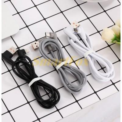 Кабель USB/TYPE-C SERTEC ST-057 L+L круглый из ТРЕ пластика WHITE (1 м)