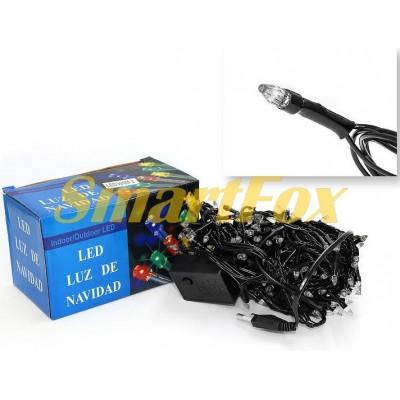 Гирлянда LED500B-2 500led черная c прозрачным наконечником (синяя) (без возврата, без обмена)