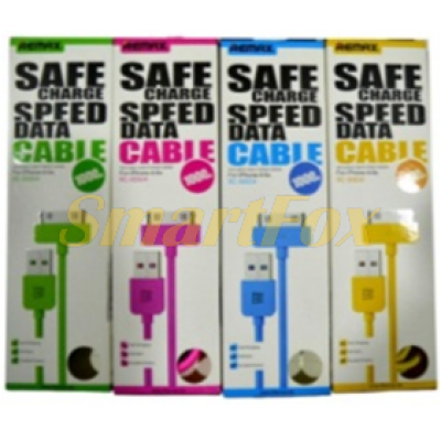 Кабель USB/IPHONE 4 REMAX (Safe+DATA-Cable) (1 м)