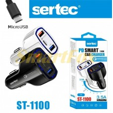 АЗУ 2USB microUSB SERTEC ST-1100 BLACK