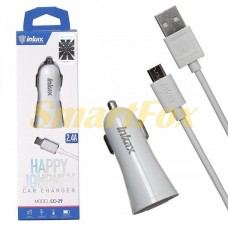 АЗУ USB 2,4А + кабель USB/microUSB INKAX CC-29-M-V8