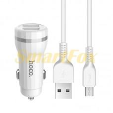 АЗУ 2USB + кабель USB/microUSB HOCO Z27-V8