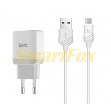 СЗУ USB с кабелем USB/microUSB Hoco C22A-V8