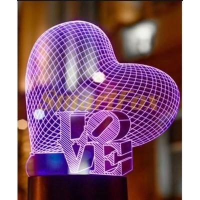 Светильник 3D YKL-01H LOVE (без возврата, без обмена)