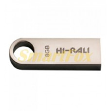 Флеш память USB 8Gb flash Hi-Rali Shuttle series Silver