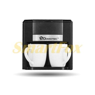 Кофеварка Domotec MS-0708 2 чашки 500Вт 300мл 220В Black