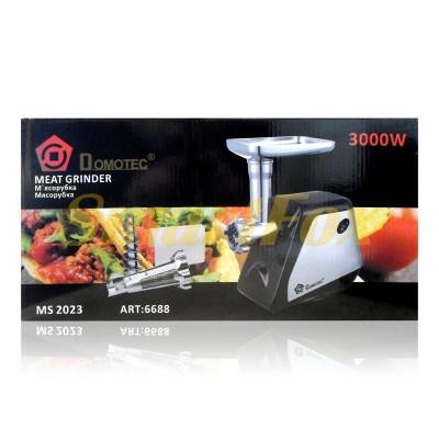 Мясорубка электрическая Domotec MS-2023 3000Вт металлический корпус +томатный сок