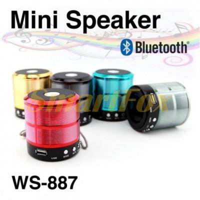 Портативная колонка Bluetooth WSTER WS-887