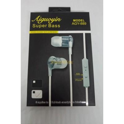 Наушники вакуумные с микрофоном AGY-889