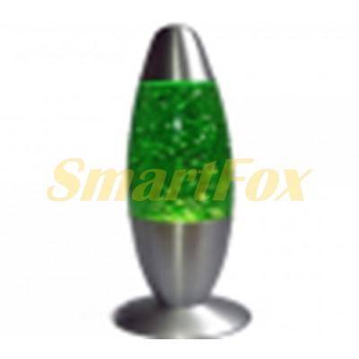 Светильник восковая лава-лампа с блестками (34,5 см)