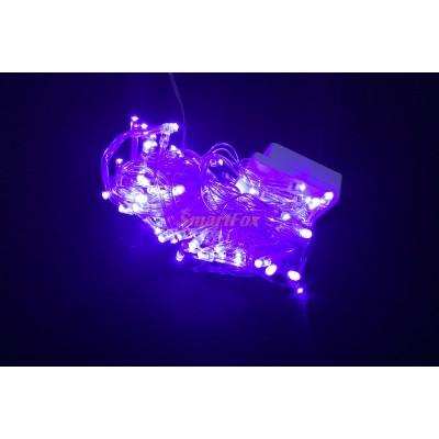 Гирлянда LED100B-1 100led прозрачная (синяя) (без возврата, без обмена)