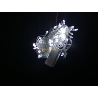 Гирлянда LED100W-1 100led прозрачная (белая) (без возврата, без обмена)
