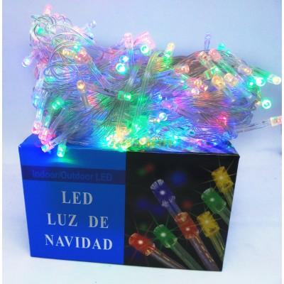 Гирлянда LED200M-1 200led прозрачная (цвет микс) (без возврата, без обмена)