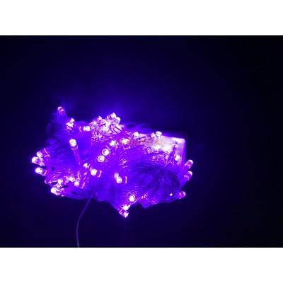 Гирлянда LED200B-1 200led прозрачная (синяя) (без возврата, без обмена)