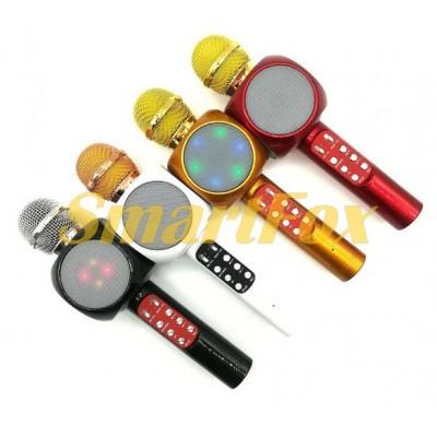 Микрофон-караоке Bluetooth WS-1816 LED (без выбора цвета)