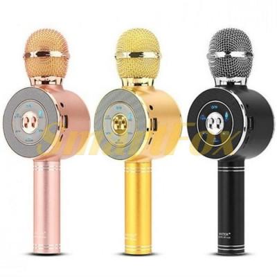 Микрофон-караоке Bluetooth WS-668 LED