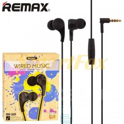 Наушники вакуумные с микрофоном REMAX RM-569