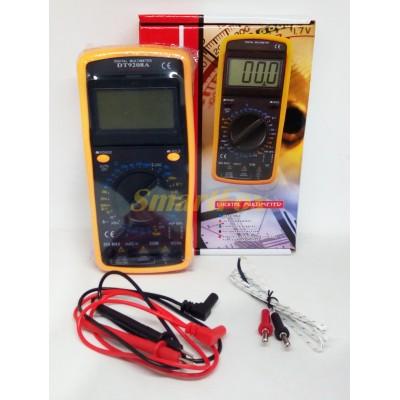 Мультиметр DT-9208 многофункциональный цифровой (звук/дисплей/измерение широкого спектра)