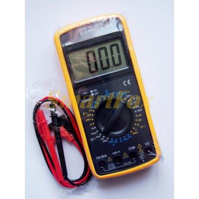 Мультиметр DT-9502 многофункциональный цифровой (звук/дисплей/измерение широкого спектра)