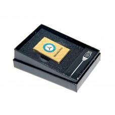 Электроимпульсная USB зажигалка с аккумлятором Mercedes Benz