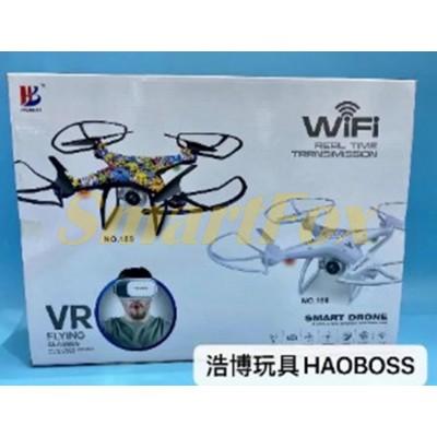 Квадрокоптер на радиоуправлении с камерой + Wi-Fi 2007 (VR BOX виртуальные очки подарок)