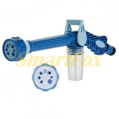Распылитель воды/насадка на шланг/водомет с отсеком для моющих средств EZ JET WATER CANNON Синий