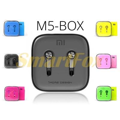 Наушники вакуумные с микрофоном Xiomi (цвета) M5-BOX