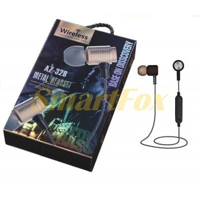 Наушники беспроводные Bluetooth магнит AZ-32B-BT