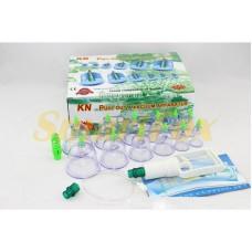 Вакуумные (массажные) банки для домашней терапии 12 шт Pull Out a Vacuum Apparatus