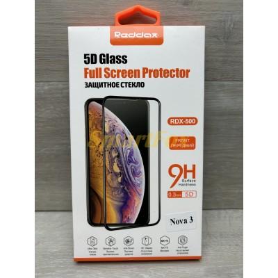 Защитное стекло REDDAX для HUAWEI NOVA 3 5D/ПЕРЕДНИЙ BLACK