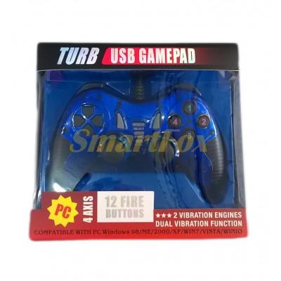 Игровой манипулятор (джойстик) PC USB 901 проводной Синий