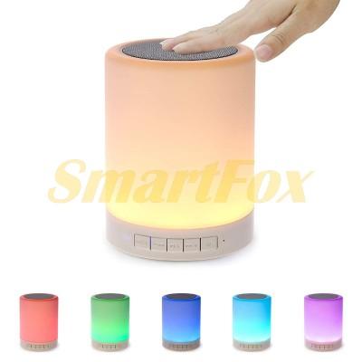 Портативная колонка Bluetooth JK-671 с сенсорной лампой Touch Lamp