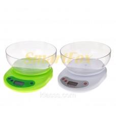 Весы бытовые кухонные цифровые с чашей  KE-2 (от 0,01гр до 5кг)