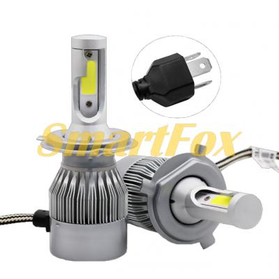 Автомобильные лампы LED C6-H4 (2шт.)