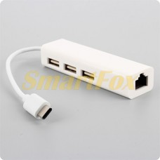 Адаптер TYPE-C/LAN+3 USB Adapter для MacBook/RJ45 + HUB